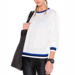 Chic Sporty Lovers + Friends Mesh Jersey Pullover